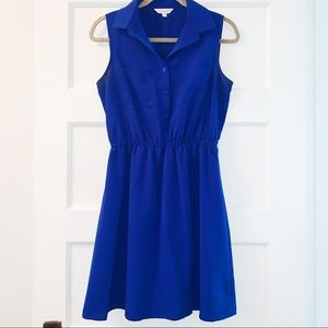 Charming Charlie Shirt Dress- Blue